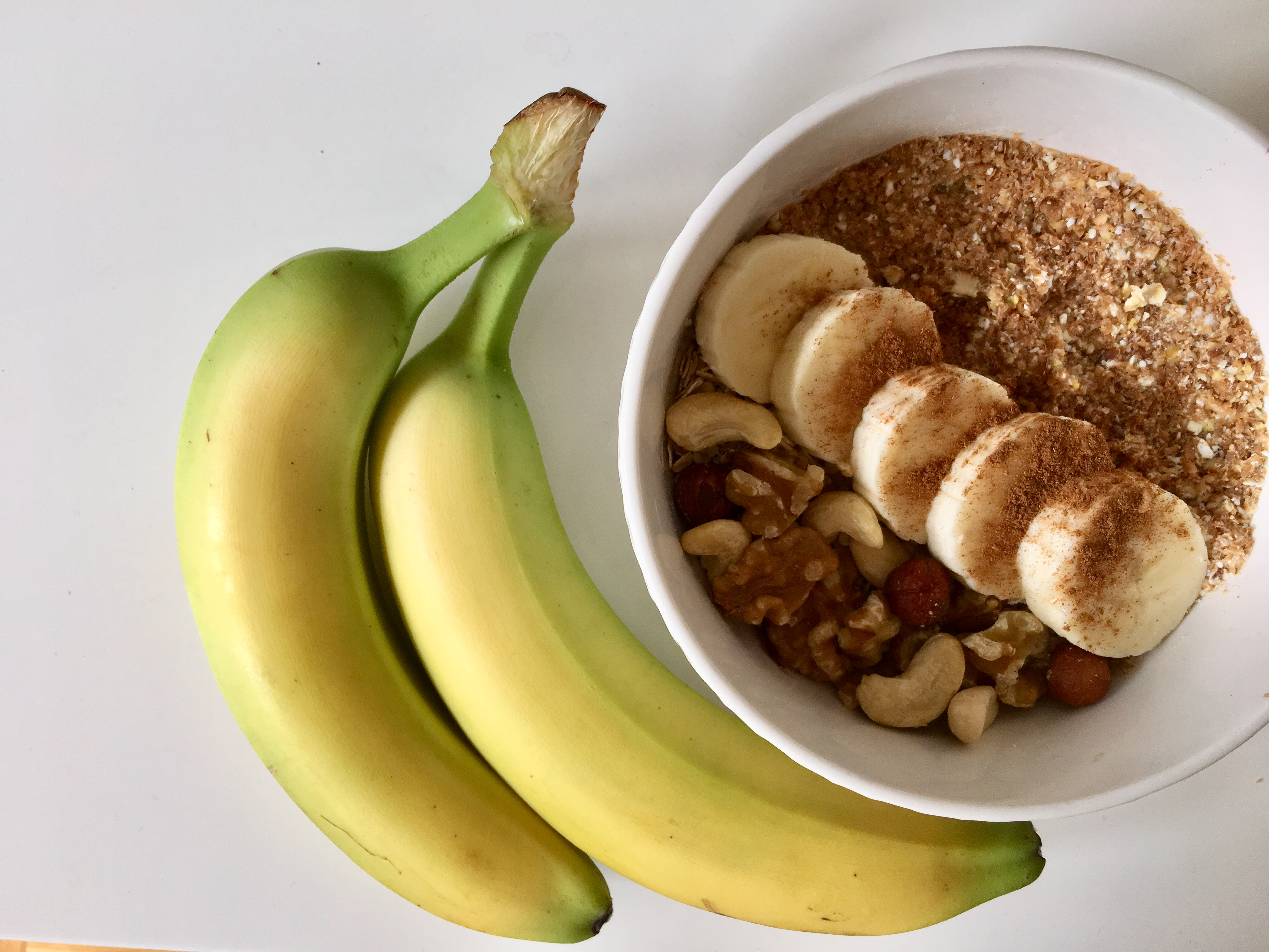 Porridge Grundrezept mit Banane und Zimt