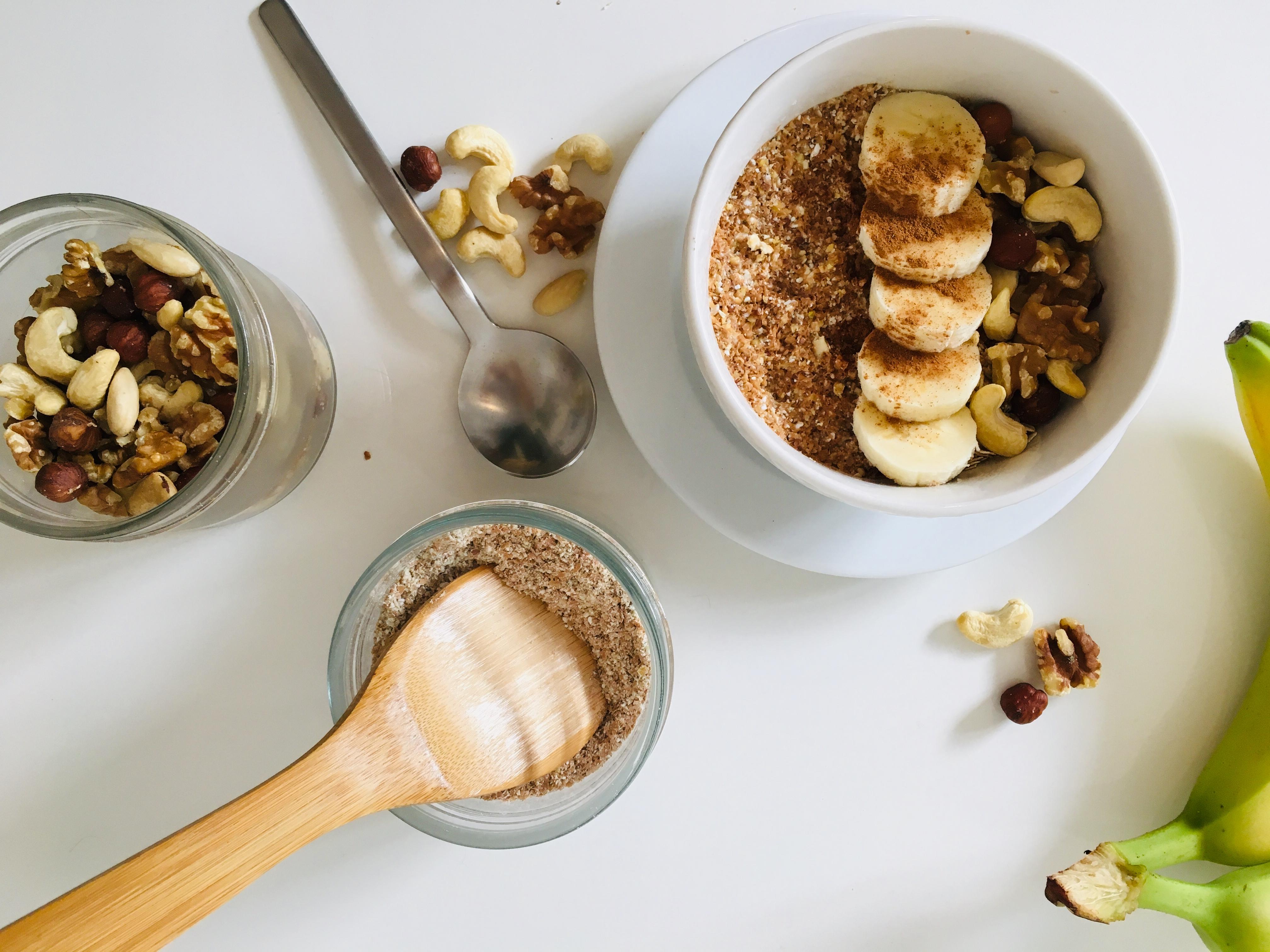 Porridge Grundrezept mit Banane und Zimt: Das fertige Porridge